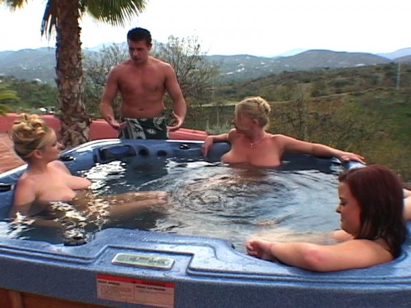 Busty Euro Maids: Hot Tub Fuck Machine